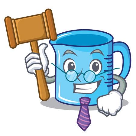 Judge measuring cup cartoon illustration. Illustration