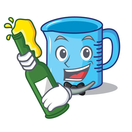 With beer measuring cup character cartoon vector illustartion