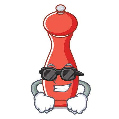Super cool pepper mill character cartoon vector illustration Illustration