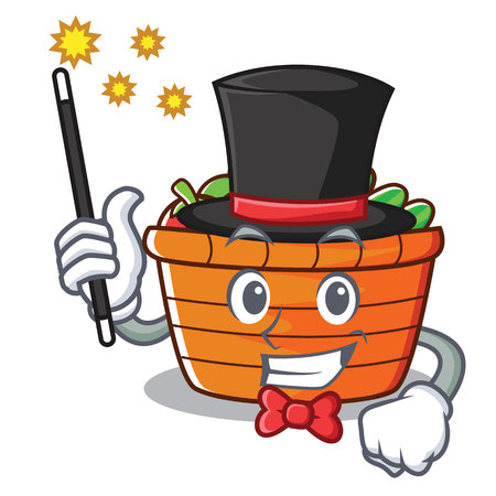 Magician fruit basket character cartoon