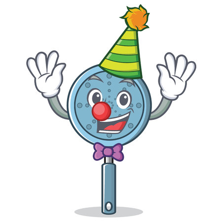 Clown skimmer utensil character cartoon vector illustration