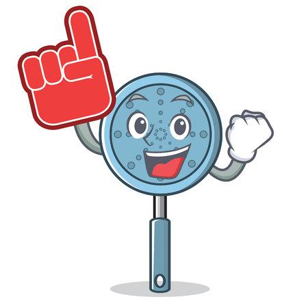 Foam finger skimmer utensil character cartoon vector illustration