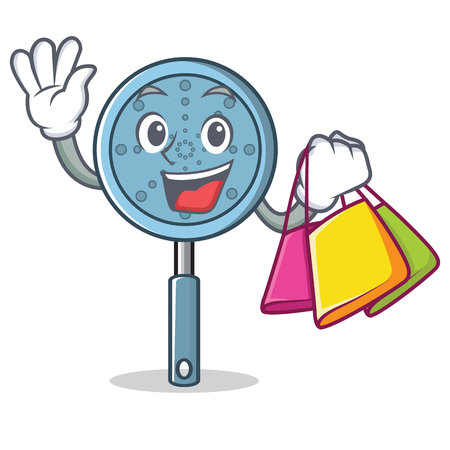 Shopping skimmer utensil character cartoon vector illustration Illustration