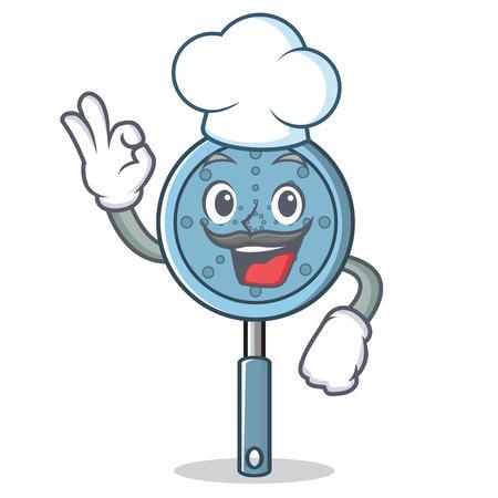 Chef skimmer utensil character cartoon vector illustration Иллюстрация