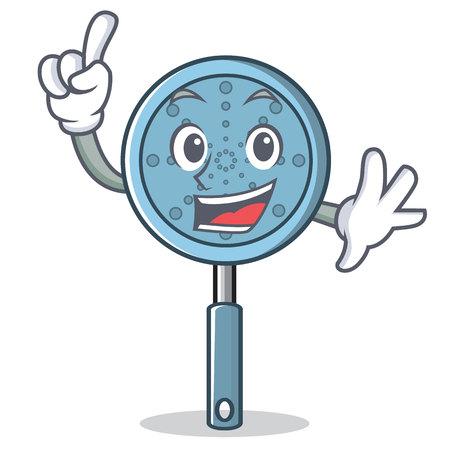 Finger skimmer utensil character cartoon vector illustration Illusztráció