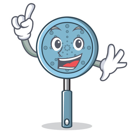 Finger skimmer utensil character cartoon vector illustration Illustration
