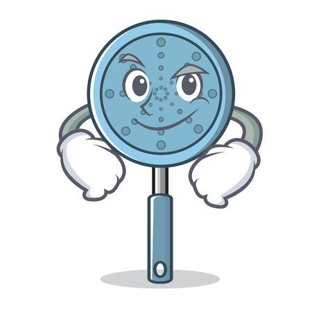 Smirking skimmer utensil character cartoon