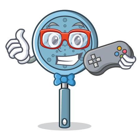 Gamer skimmer utensil character cartoon vector illustration