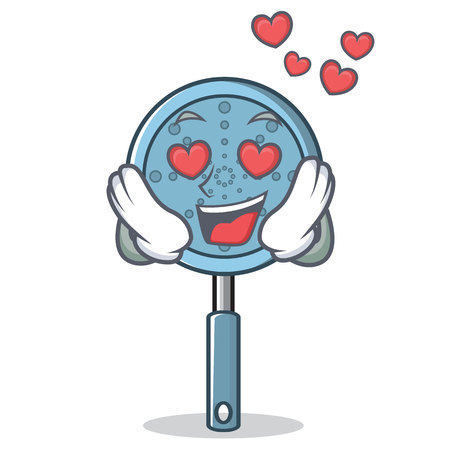 In love skimmer utensil character cartoon vector illustration