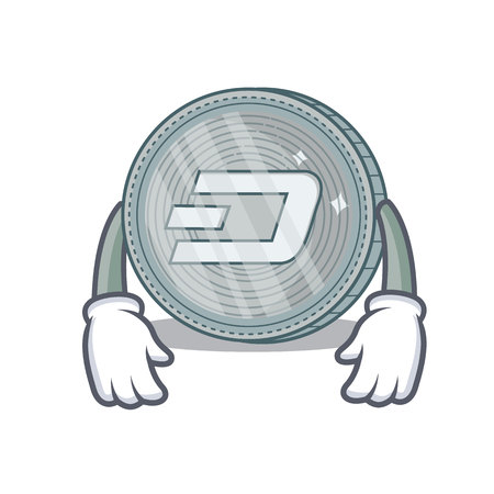 Tired Dash coin character cartoon Ilustrace