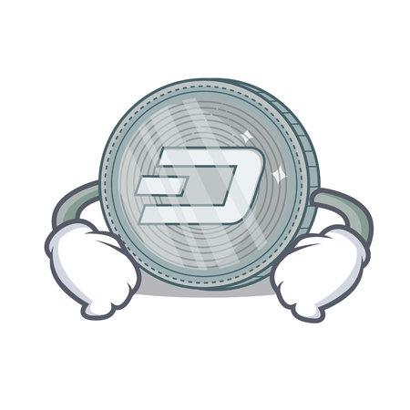 Main sur le papier de la pièce de monnaie pièce de scie à main personnage illustration vectorielle Banque d'images - 92026917