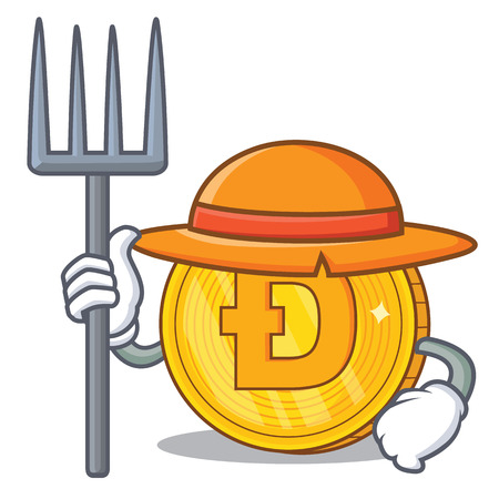 Dodgecoin Farmer cartoon style 向量圖像