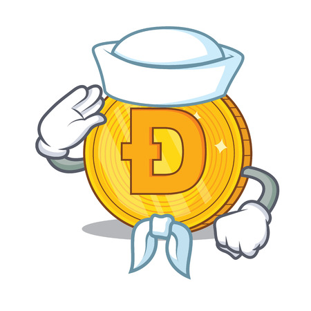 Dodgecoin Sailor cartoon style
