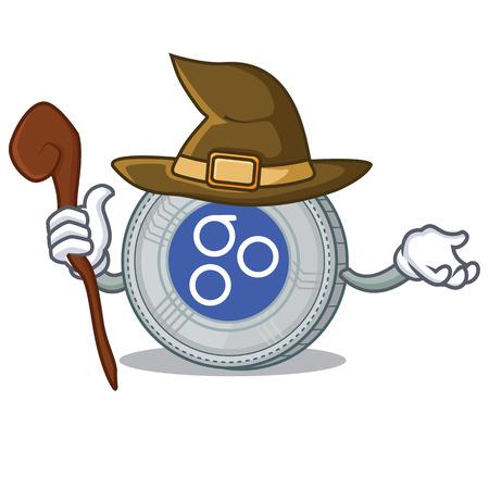 Witch OmesiGo coin character cartoon vector illustration Illustration