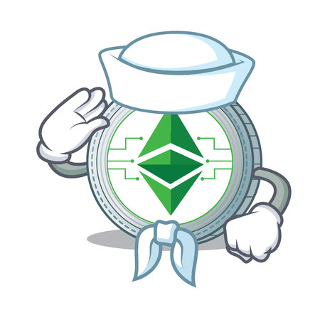 Sailor Ethereum classic character cartoon