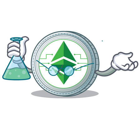 Professor Ethereum classic character cartoon