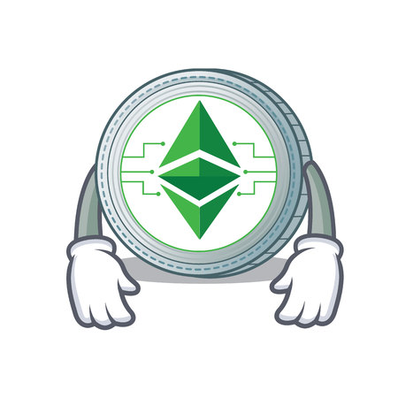 Tired Ethereum classic character cartoon vector illustration