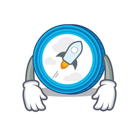 Tired stellar coin character cartoon