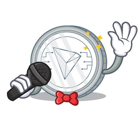 Singing Tron coin character cartoon