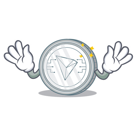 Mocking Tron coin character cartoon