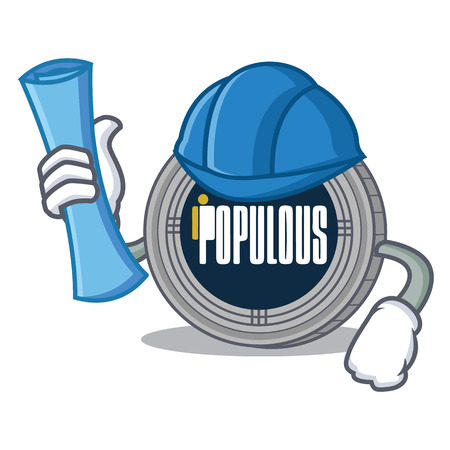 Architect populous coin character cartoon
