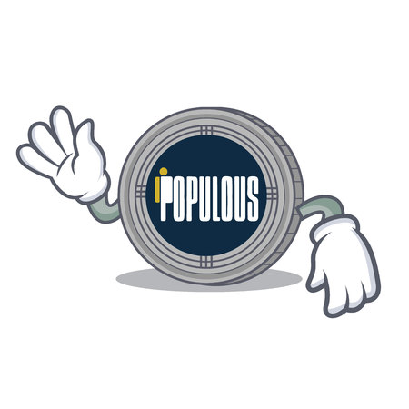 Crazy populous coin character cartoon vector illustration