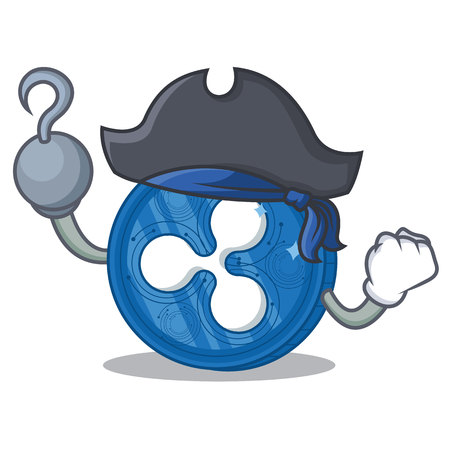 Pirate Ripple coin character cartoon.