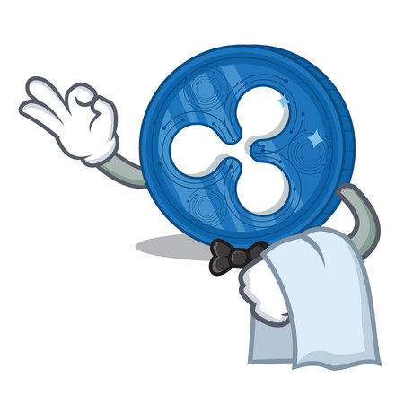 Waiter Ripple coin character cartoon