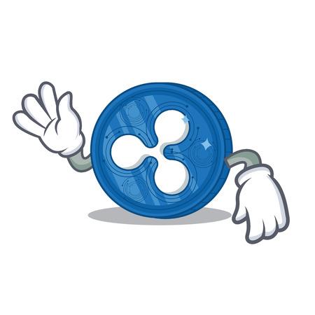 Crazy Ripple coin character cartoon