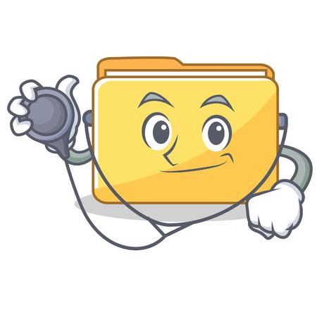 Doctor folder character cartoon style vector illustration Illustration