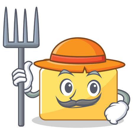 Farmer folder character cartoon style illustration.