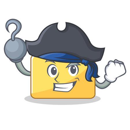 Pirate folder character cartoon style illustration.