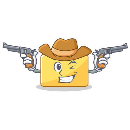 Cowboy folder character cartoon style illustration. Illustration