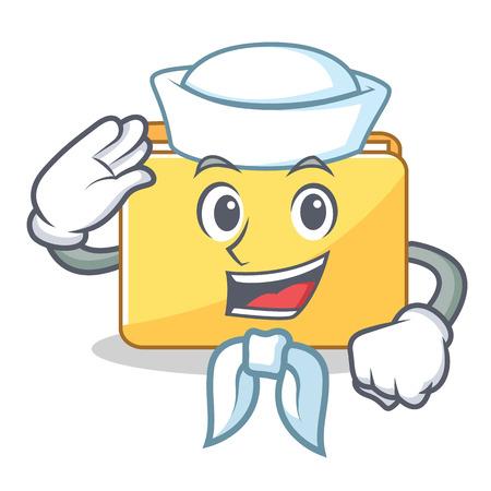 Sailor folder character cartoon style illustration.