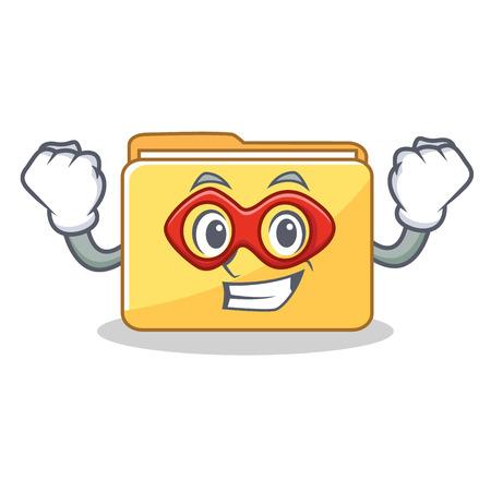 Super hero folder character cartoon style vector illustration