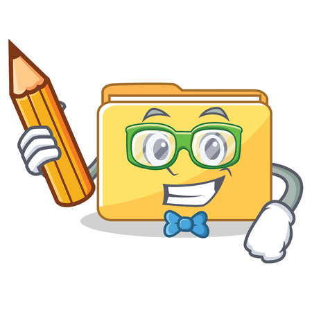 Student folder character cartoon style vector illustration