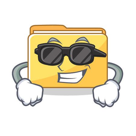 Super cool folder character cartoon style vector illustration