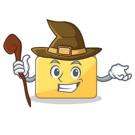 Witch folder character cartoon style vector illustration Illustration