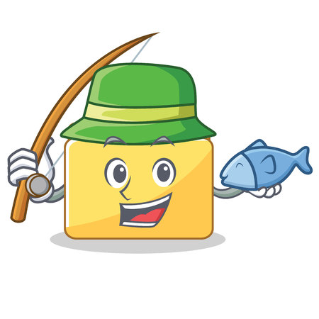 Fishing folder character cartoon style vector illustration