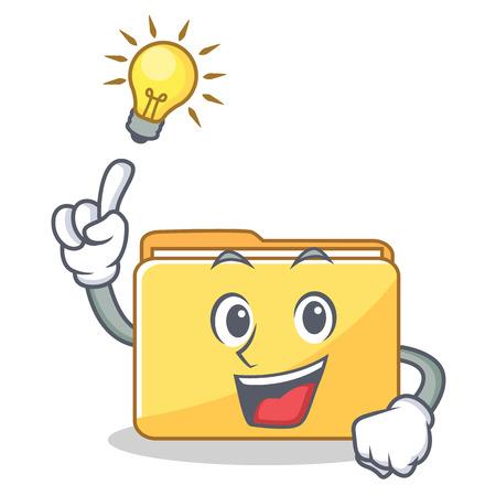 Have an idea folder character cartoon style vector illustration Illustration