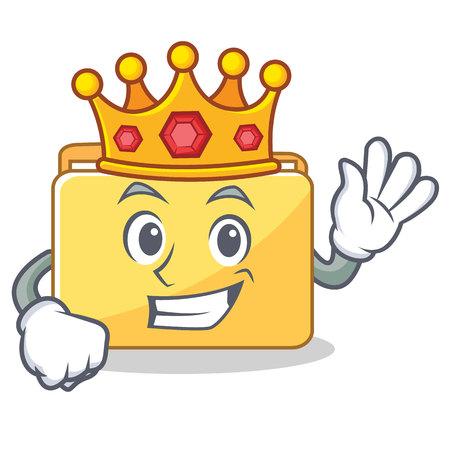 King folder character cartoon style illustration. Illustration