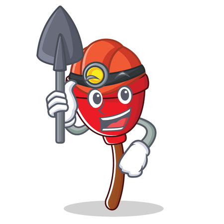Miner plunger character cartoon style