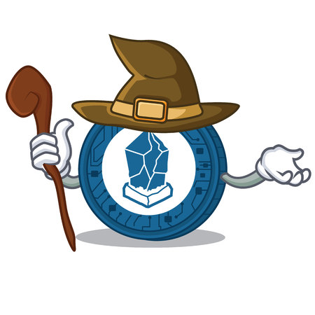 Witch Lisk coin character cartoon Illustration