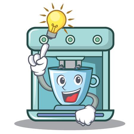 Have an idea coffee maker character cartoon vector illustration
