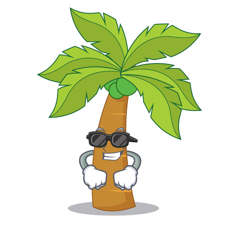 Super cool palm tree character cartoon