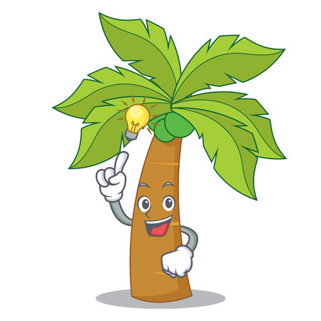 Have an idea palm tree character cartoon illustration.