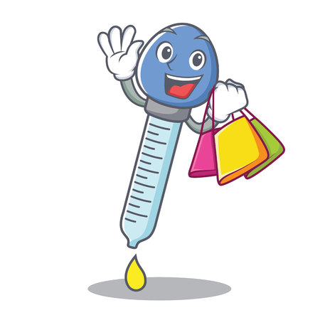 Shopping dropper character cartoon style vector illustration Ilustração