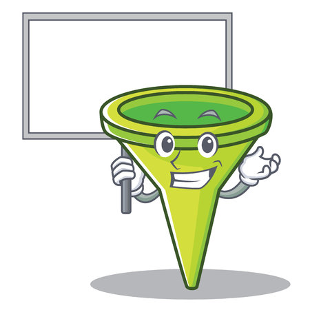 Bring board funnel character cartoon style Illustration