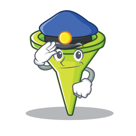 Police funnel character cartoon style vector illustration