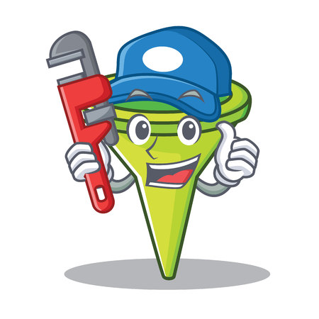 Plumber funnel character cartoon style Illustration